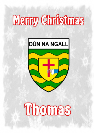 Personalised Donegal Crest Christmas Card